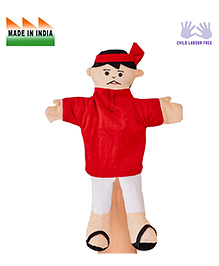 Eduedge Coolie Hand Puppet Red & White - Height 25 Cm