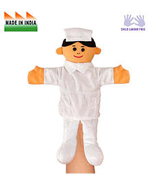 Eduedge Nurse Hand Puppet White - Height 25 Cm