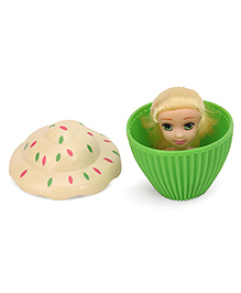Cupcake Surprise Mini Doll Green - Height 8.5 Cm