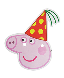 Party Propz Peppa Pig Mask Pink - Pack Of 10 Pieces