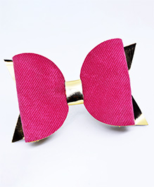 Little Tresses Self Design Bow Hair Clip - Pink
