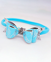 Little Tresses Double Layer Bow Rubber Band - Blue