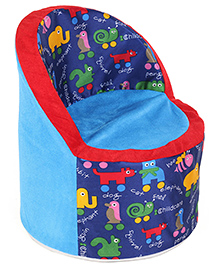 Luvely Kids Sofa Chair Animal Print - Blue