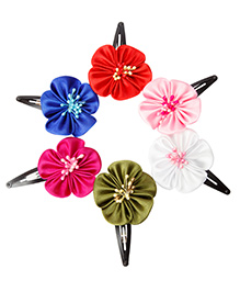 Keira's Pretties Pack Of 6 Blossom Flower Clips - Multi Color