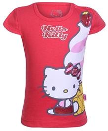 Hello Kitty -  Half Sleeves Hello kitty Print Top