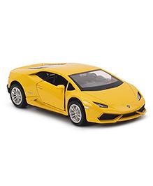 RMZ Die Cast & Pull Back Lamborghini Huracan Car Toy - Yellow