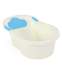 Bath Tub Love Melody Print - Cream & Blue