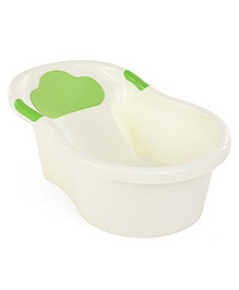Bath Tub Love Melody Print - Cream & Green