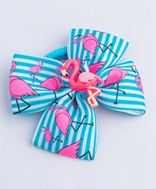 Ribbon Candy Flamingo Rubber Band - Blue & Pink