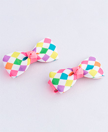 Ribbon Candy Diamond Print Alligator Hair Clip - Multi Color