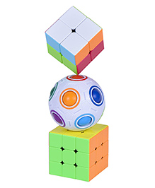 Smartcraft Rubiks Cube & Ball Cube Combo Multicolour - Pack Of 3