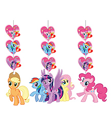 Party Propz My Little Pony Wall Hanging Decoration Set Of 3 - Multicolour