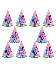 Party Propz My Little Pony Themed Paper Caps Pink - 10 Pieces