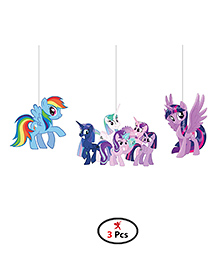 Party Propz My Little Pony Wall Hanging Set Of 3 - Multicolour