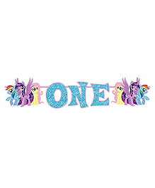 Party Propz My Little Pony Party Banner Age One - Multicolour