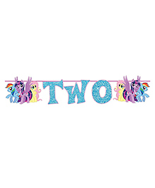 Party Propz My Little Pony Age Banner Age Two - Blue