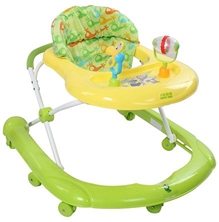 Fab N Funky Baby Walker with Toy Play Tray - Green