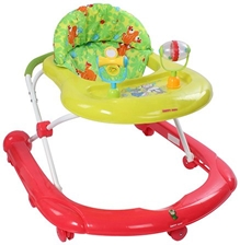 Fab N Funky - Baby Walker Green With Play Tray