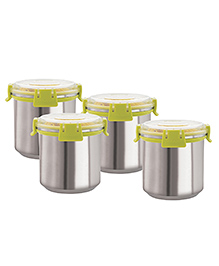 Magnus Airtight Food Storage Containers Set Of 4 Green - 750 Ml Each