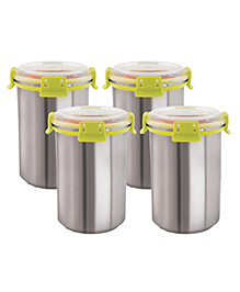 Magnus Airtight Food Storage Containers Set Of 4 Green - 1200 Ml Each