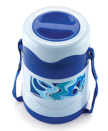 Magnus Steam Lock Insulated Stainless Steel 2 Container Lunch Box - Blue