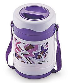 Magnus Steam Lock Insulated Stainless Steel 3 Container Lunch Box - Purple