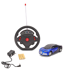 Remote Control Car With Steering Wheel - Black & Blue