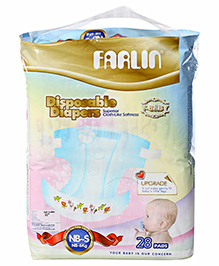 Farlin Disposable Baby Diapers New Born to Small - 28 Pads