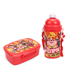 Paw Patrol Lunch Box & Water Bottle Combo - Red & Yellow