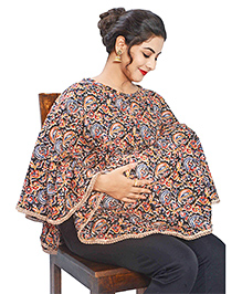 Mum's Caress Premium Feeding Cover Floral Print - Multicolour