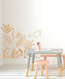 Asian Paints Wall Ons Nature Plantation Life Removable Wall Sticker Orange - XXL