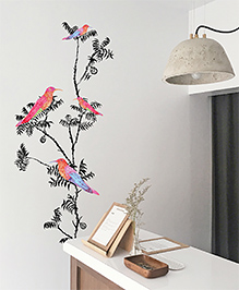 Asian Paints Wall Ons Nature Fly Away Removable Wall Sticker Multicolour - XL