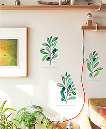 Asian Paints Wall Ons Nature Sweet Leaves Removable Wall Sticker Green - Large