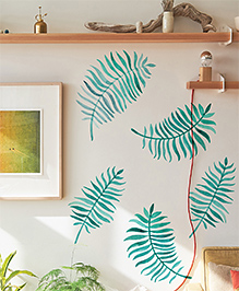 Asian Paints Wall Ons Nature Palm Heaven Removable Wall Sticker Green - XL