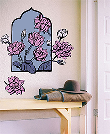 Asian Paints Wall Ons Nature Mogra Removable Wall Sticker Multicolor - XL