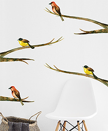 Asian Paints Wall Ons Nature Bird Removable Wall Sticker Multicolor - XL