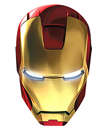 Wanna Party Iron Man Face Mask - Red & Golden