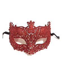 Wanna Party Glitter Fashion Eye Mask - Red
