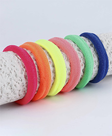 Babyhug Hair Rubber Band Pack Of 6 - Multicolour - 2257270