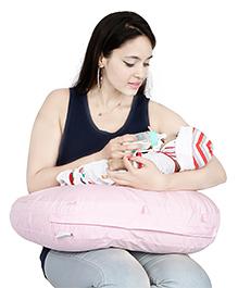 Lulamom Curved Soft Feeding Pillow - Light Pink
