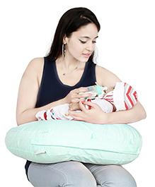 Lulamom Curved Soft Feeding Pillow - Blue