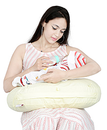 Lulamom Curved Soft Feeding Pillow - Cream