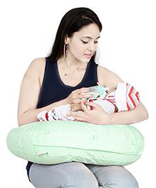 Lulamom Curved Soft Feeding Pillow - Light Green