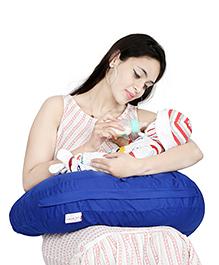 Lulamom Curved Soft Feeding Pillow - Royal Blue