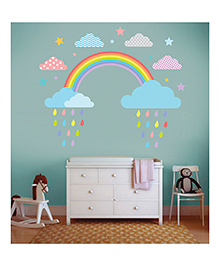 Little Jamun Medium Size The Rainbow Bright And Beautiful Wall Decal - Multicolor