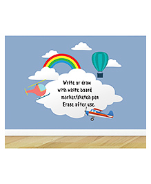 Little Jamun Up In The Sky Writeable Wall Sticker With Free Marker - Multicolor