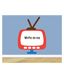 Little Jamun Writable Wall Sticker With Free Marker - White & Red