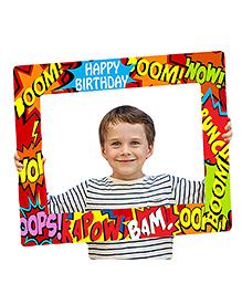 Party Propz Superhero Photo Booth Frame - Multicolour