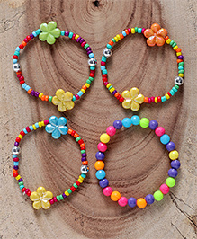 Babyhug Beaded Bracelet Pack Of 4 - Multi Colour