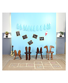 Arcedo Tom & Jerry Themed Wooden Tom Chair - Brown